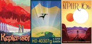 Kepler's alien planet travel posters. (Courtesy: NASA)