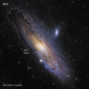 Map of Andromeda galaxy. (Courtesy: HST, PHAT)