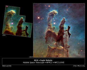 "Image of ""pillars of creation."" (Courtesy: NASA and ESA)"