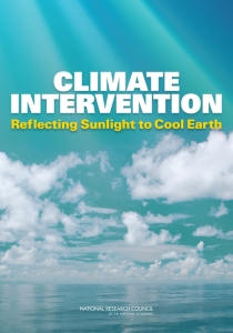 """NAS report: """"Climate Intervention: Reflecting Sunlight to Cool Earth"""""""