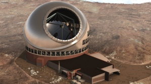 Artist's rendition of the planned Thirty Meter Telescope. (Credit: TMT/Associated Press)