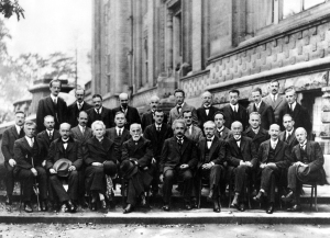 Conference participants, October 1927. Institut International de Physique Solvay, Brussels.