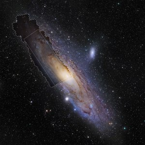 Detailed image of the Andromeda Galaxy, recently surveyed by the Panchromatic Hubble Andromeda Treasury
