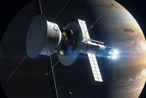 A potential spacecraft called Icarus Pathfinder would be powered by electric propulsion engines called VASIMR, taking it out to 1,000 times the distance between the Earth and Sun. (Credit: NBC News)
