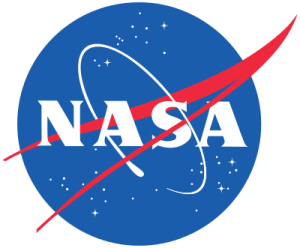 """NASA's logo, often affectionately referred to as the """"meatball."""" (People refer to its less popular logo in the '80s as the """"worm."""")"""