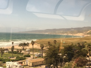 Here's another photo, this time from the observation car of Amtrak's Coast Starlight train.