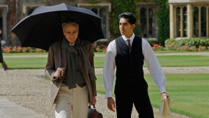 "A scene from ""The Man Who Knew Infinity,"" with Dev Patel and Jeremy Irons. (Courtesy of San Francisco Film Society / Richard Blanshard / IFC Films)"