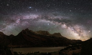 An excellently framed night sky view of the Milky Way at Dinosaur National Monument, Utah. (Credit: NPS / Dan Duriscoe)